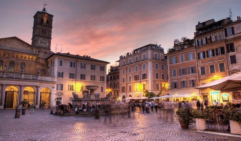 Barrio Trastevere en Roma