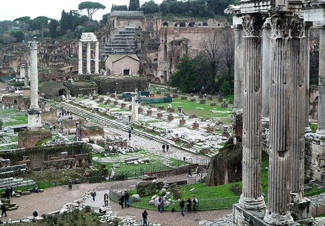 Sobre el Foro Romano en Roma